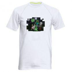 Мужская спортивная футболка Minecraft Party - FatLine