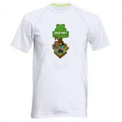 Мужская спортивная футболка Minecraft Steve - FatLine