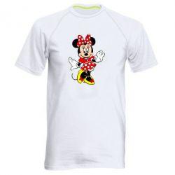 Мужская спортивная футболка Минни Красавица - FatLine
