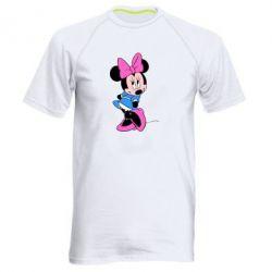 Мужская спортивная футболка Минни стесняется - FatLine
