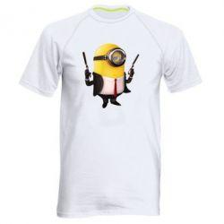 Мужская спортивная футболка Миньон Хитман - FatLine
