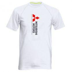 Мужская спортивная футболка Mitsubishi Motors лого - FatLine