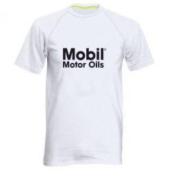Мужская спортивная футболка Mobil Motor Oils - FatLine