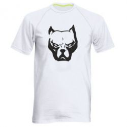 Чоловіча спортивна футболка Морда пітбуля
