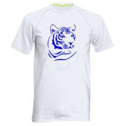Мужская спортивная футболка Морда тигра - FatLine