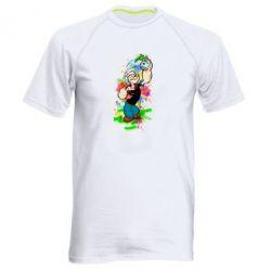Мужская спортивная футболка Моряк Папай Арт