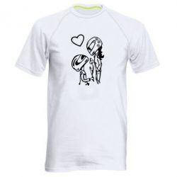 Мужская спортивная футболка MOTO LOVE - FatLine