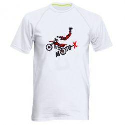 Мужская спортивная футболка Moto-X - FatLine