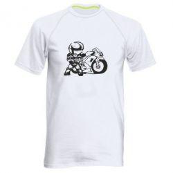 Мужская спортивная футболка Мотоциклист - FatLine