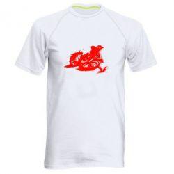 Мужская спортивная футболка Мотокросс лого - FatLine
