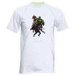 Мужская спортивная футболка Мстители Фан Арт