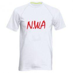 Мужская спортивная футболка N.W.A Logo - FatLine