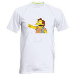 Мужская спортивная футболка Нельсон Симпсон - FatLine