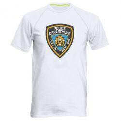 Мужская спортивная футболка New York Police Department - FatLine