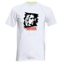 Мужская спортивная футболка Nirvana Kurt Cobian - FatLine