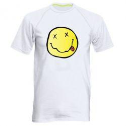 Мужская спортивная футболка Nirvana Logo 3D - FatLine