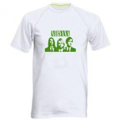 Мужская спортивная футболка Nirvana (Нирвана)
