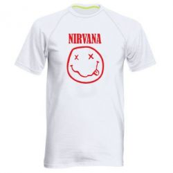 Мужская спортивная футболка Nirvana (Нирвана) - FatLine