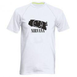 Мужская спортивная футболка Nirvana Smile