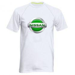 Мужская спортивная футболка Nissan Green - FatLine