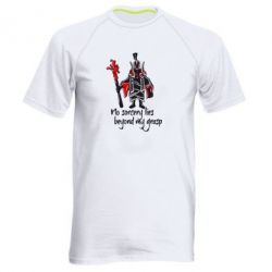 Мужская спортивная футболка no sorcery lies beyond my grasp - FatLine