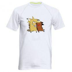 Мужская спортивная футболка Норберт и Деггет - FatLine