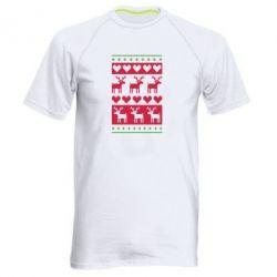 Мужская спортивная футболка Новогодние узоры - FatLine