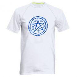 Мужская спортивная футболка Оккультный символ Сверхъестественное - FatLine