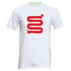 Мужская спортивная футболка оооочень длинная такса - FatLine
