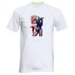 Мужская спортивная футболка Опасная Харли Квинн - FatLine