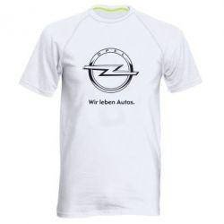 Мужская спортивная футболка Opel Wir leben Autos