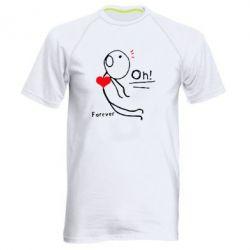 Мужская спортивная футболка Our love story
