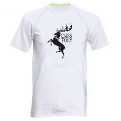 Мужская спортивная футболка Ours is the fury - FatLine