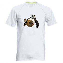 Мужская спортивная футболка Падающая Панда - FatLine