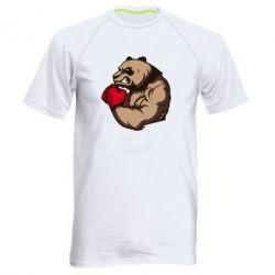Мужская спортивная футболка Panda Boxing - FatLine