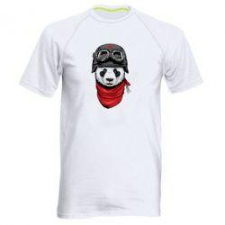 Мужская спортивная футболка Панда в каске - FatLine