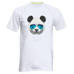 Мужская спортивная футболка Панда в очках - FatLine