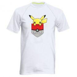 Мужская спортивная футболка Pikachu in pocket - FatLine