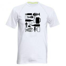 Мужская спортивная футболка Пиво и рыбка - FatLine