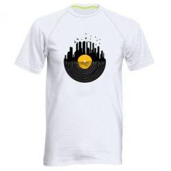 Мужская спортивная футболка Пластинка - FatLine