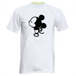 Мужская спортивная футболка Поцелуй мышек (м) - FatLine