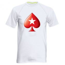Мужская спортивная футболка Poker Stars 3D Logo - FatLine