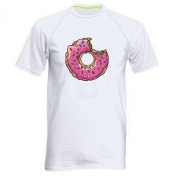 Мужская спортивная футболка Пончик - FatLine