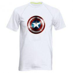 Мужская спортивная футболка Потертый щит - FatLine