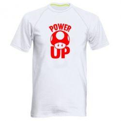 Мужская спортивная футболка Power Up гриб Марио