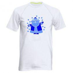 Мужская спортивная футболка Прикольный дед мороз - FatLine