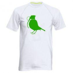 Мужская спортивная футболка Птичка с гранатой - FatLine