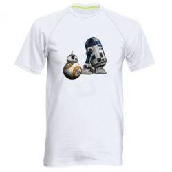 Мужская спортивная футболка R2D2 & BB-8 - FatLine