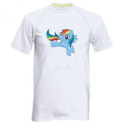 Чоловіча спортивна футболка Rainbow Dash run - FatLine