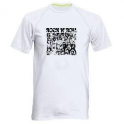 Мужская спортивная футболка ROCK N ROLL - FatLine